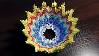 getlinkyoutube.com-3D origami vase (basket) tutorial (instruction)