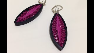 getlinkyoutube.com-Quilling Earrings drop using a hair comb