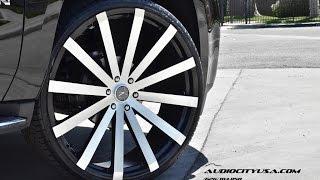 "getlinkyoutube.com-GMC Yukon 2014 on 28"" Velocity VW 12 black machine"
