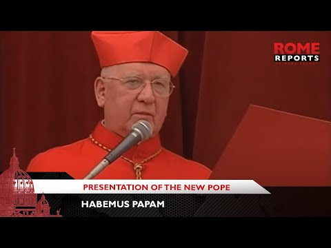 Habemus Papam  When Cardinal Medina introduced the new Pope