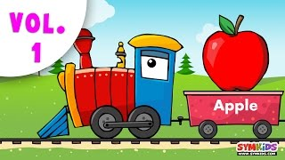 getlinkyoutube.com-Learning Train Collection | Fruits and Other Collection|14 minutes Compilation
