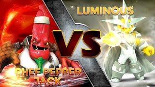 getlinkyoutube.com-Skylanders Trap Team - Chef Pepper Jack VS Luminous