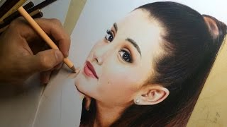 getlinkyoutube.com-Drawing Ariana Grande