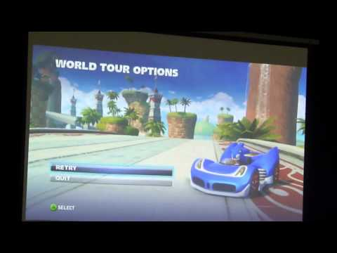 Sonic Allstars Racing Transformed 'Press conference Play Expo' Manchester 2012