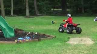 getlinkyoutube.com-FAST - Modified 24V Power Wheel 4-wheeler