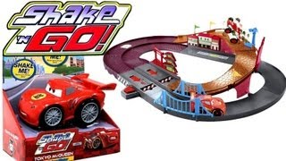 getlinkyoutube.com-Dragon Tokyo McQueen Shake n Go Cars 2 w/ Speedway Racing Challenge Entire Complete collection