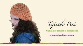 getlinkyoutube.com-Boina floja o caida en dos agujas (Slouchy knit beret) Parte 1