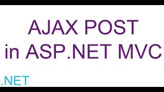 getlinkyoutube.com-AJAX POST in ASP.NET MVC