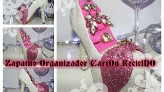 getlinkyoutube.com-DIY ZAPATITO ORGANIZADOR CARTON RECICLADO