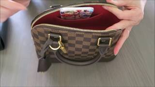 getlinkyoutube.com-Louis Vuitton Alma BB Damier Ebene   Review   Red Ruby Creates