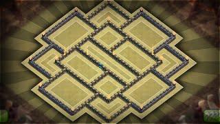 Clash of Clans - BEST Townhall 10 (TH10) Anti-Three Star Trophy/Clan War BASE!!!
