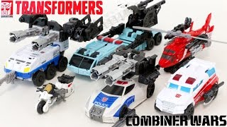 Transformers Combiner Wars Autobot Defensor Police Rescue Fire Truck Vehicle Robot Car Toys