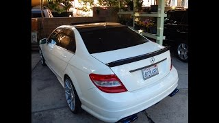 getlinkyoutube.com-2011 Mercedes C300 - Straight Pipe vs. Magnaflow Mufflers