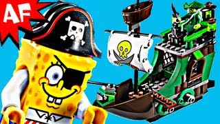 getlinkyoutube.com-Lego Spongebob FLYING DUTCHMAN Set 3817 Animated Building Review