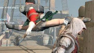 getlinkyoutube.com-Assassin's Creed 3 Funny Stupid Crazy Guards Part 2