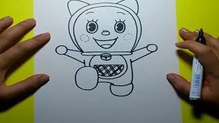 getlinkyoutube.com-Como dibujar a Dorami paso a paso - Doraemon   How to draw Dorami - Doraemon