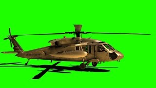 getlinkyoutube.com-Green Screen Helicopter BlackHawk Landing Free Stock Footage Download After Effects