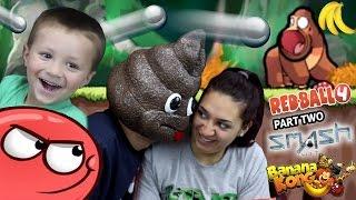 getlinkyoutube.com-a POOPY HEAD Plays Games!  Redball 4, Banana Kong & Smash Hit (FGTEEV FAMILY GAMEPLAY)