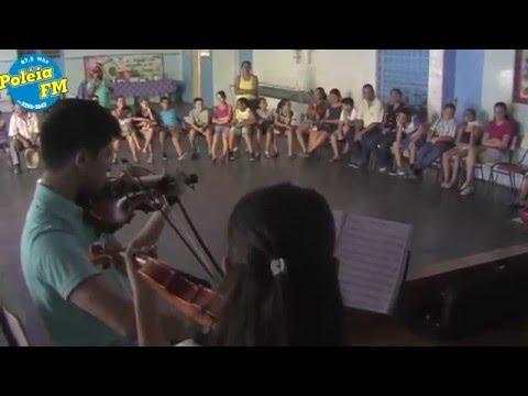 Alunos de violino prof Sergio Ferraz Palestina