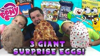 3 Giant Surprise Eggs - Unicorno, Adventure Time, MLP, Doctor Who