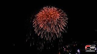 Gioiosa Marea - Momenti dei fuochi d'artificio ferragosto 2018 - www.canalesicilia.it