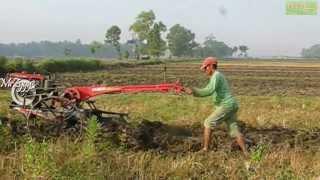 getlinkyoutube.com-Yanmar 2 Wheel Hand Plow Tractor Beginning Work