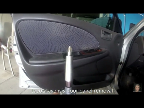 Toyota Avensis(1997-2003) door panel removal