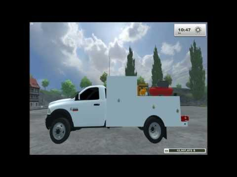 Ram 5500 Service/Lube Truck mod for Farming Simulator 2013