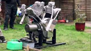 "getlinkyoutube.com-The ""Flying Millyard"" 5 Litre V Twin first test run"