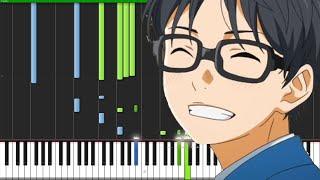 Nanairo Symphony - Shigatsu wa Kimi no Uso (Opening 2) [Piano Tutorial] (Synthesia) // AniPiano