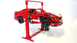 getlinkyoutube.com-LEGO Car Lift,  can lift more than 3KGS!! by Sheepo