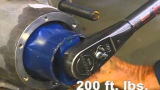 How to adjust the Wheel Bearing on a Trailer Axle