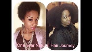 getlinkyoutube.com-One Year Natural Hair Journey (4b/4c hair) | Natural Hair Inspiration