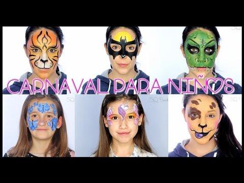 Tutorial maquillaje Carnaval para Niños, Fantasía #43 | Silvia Quiros
