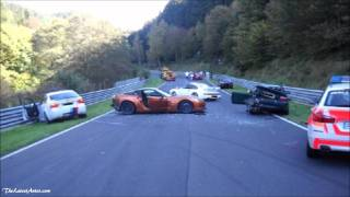 8 car pile Up on the Nürburgring Nordschleife