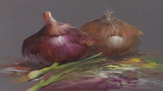 "getlinkyoutube.com-The Beauty of Oil Painting, Series 1, Episode 22 "" Onion Still Life """