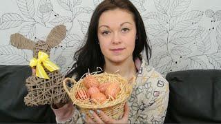 getlinkyoutube.com-Velikonoční dekorace, pletení z papíru - neobvyklé věnce na dveře, malování vajec