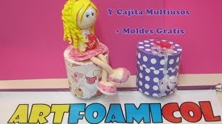 getlinkyoutube.com-Fofucha Sentada Con Piernas Flexibles Y Cajita Multiusos