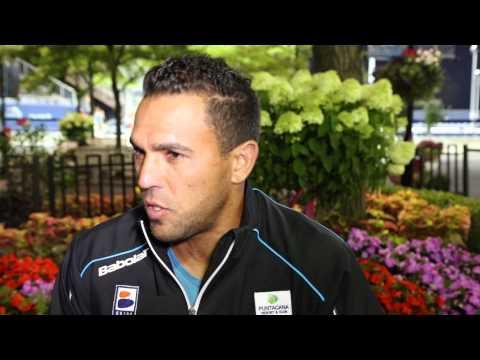 US Open 2014 Victor Estrella Burgos Interview Thursday