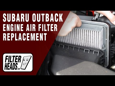 How to Replace Engine Air Filter 2010-2015 Subaru Outback