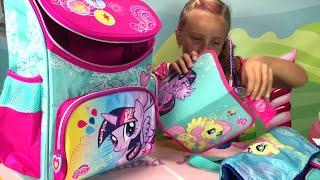 My Little Pony Мой маленький пони что в моём портфеле 1 сентября #КаналЛеночки в школу с пони