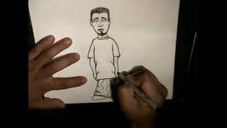 getlinkyoutube.com-How to Draw a Simple Character (step by step) - For Kids