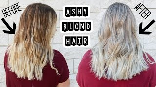getlinkyoutube.com-ASHY BLONDE HAIR   Babylights and Smudge Roots