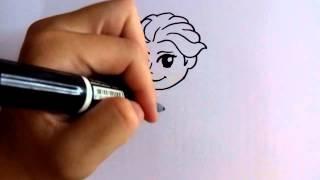 getlinkyoutube.com-สอนวาดรูป การ์ตูน เจ้าหญิง เอลซ่า elsa วาดการ์ตูนกันเถอะ