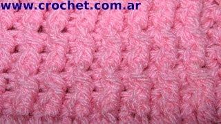 getlinkyoutube.com-Punto Elastico Simple en tejido crochet tutorial paso a paso.