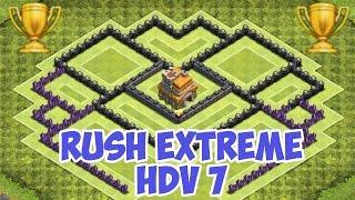 getlinkyoutube.com-Village HDV 7 Rush Extrême - Clash of Clans