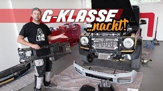 getlinkyoutube.com-Umbau G Klasse G350 Diesel auf G63 AMG V8 Motorsound Active Sound Auspuffanlage G63 Auspuff Schawe C
