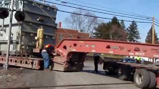 getlinkyoutube.com-Oversize Load rail crossing