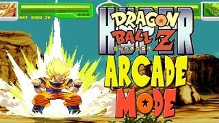 getlinkyoutube.com-Hyper Dragon Ball Z: Arcade Mode w/ Super Saiyan Goku (Crossover Mugen Mac)