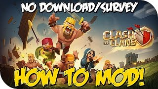 """getlinkyoutube.com-How to Mod """"Clash of Clans"""" Unlimited Gems & Loot (Mod COC May 2015)"""